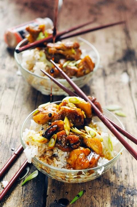 Poulet Tokyo Express… Parce qu'il fait trop chaud pour cuisiner mais aussi trop beau pour ne pas manger dehors…