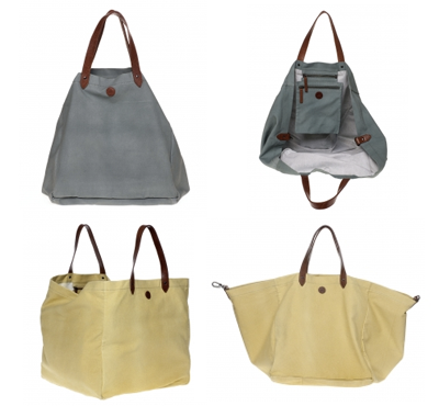 Elk Gavle canvas tote duck egg, yellow