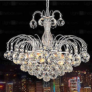 Lámpara de Araña Chandelier con Bolas de Cristal