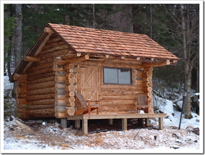 THIRTEEN Tiny Dream Log Cabins- AND a floating log home!