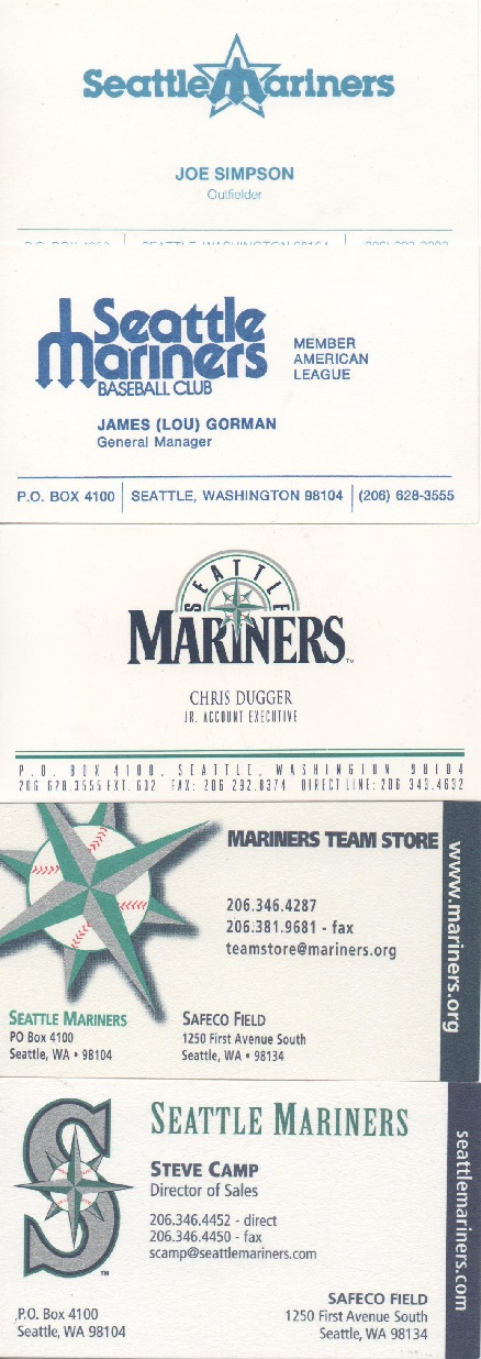 The prowling cat bic cards the collection seattle mariners texas this has to be one of if not my favorite mlb team collection of business cards not because its my second favorite team or that we live in the northwest so colourmoves