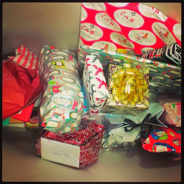 Work Secret Santa presents