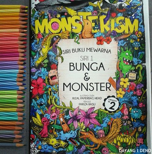Buku Mewarna Bunga Dan Monster : Complete