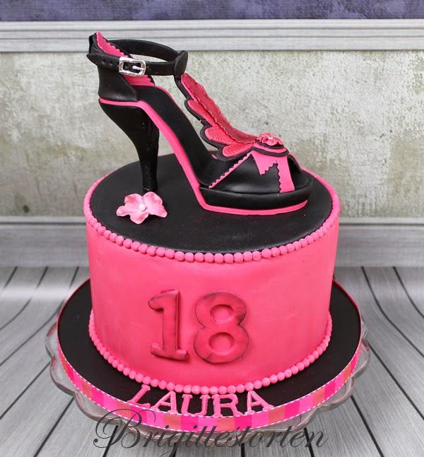 brigittes tortendesign high heels mit torte in pink. Black Bedroom Furniture Sets. Home Design Ideas