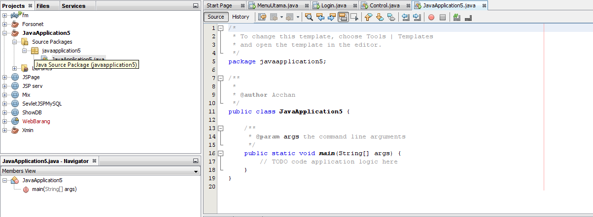 Project Netbeans, Java Netbeans