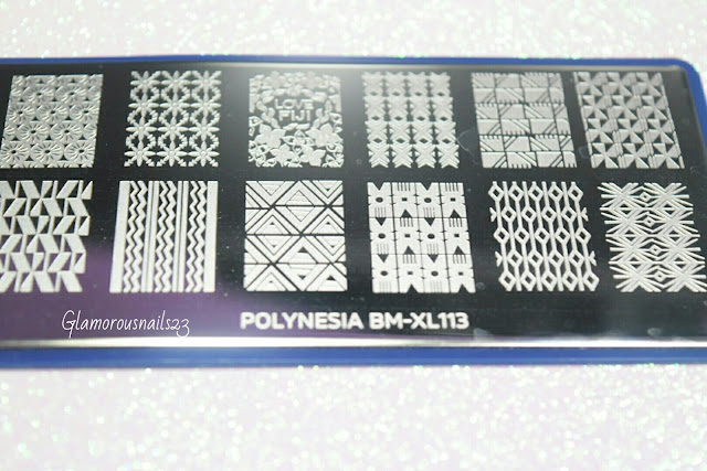 "Bundle Monster Fiji Summer ""Polynesia BM-XL113"" Stamping Plate"