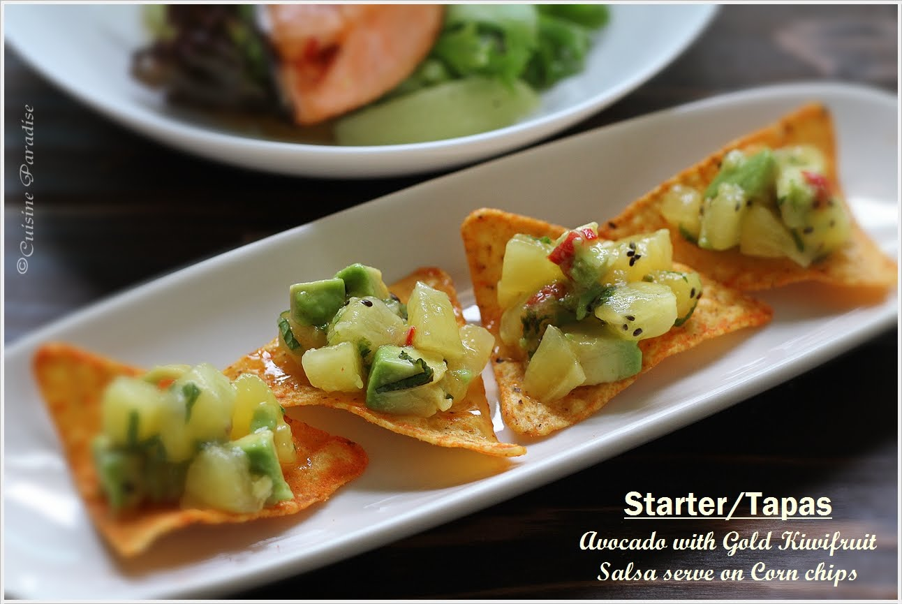 Recipes} Kiwi, Lime & Mint Cooler, Avocado with Gold Kiwifruit Salsa ...