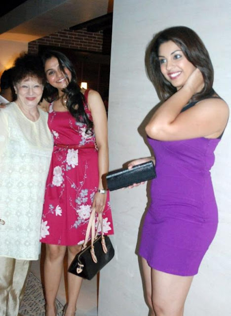 Richa Gangopadhyay in Purple Dress