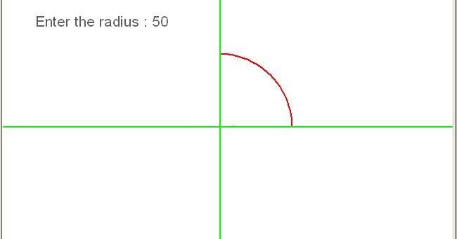 Develop The Bresenham S Line Drawing Algorithm Using C Language : C programming program to draw circle in first quadrant