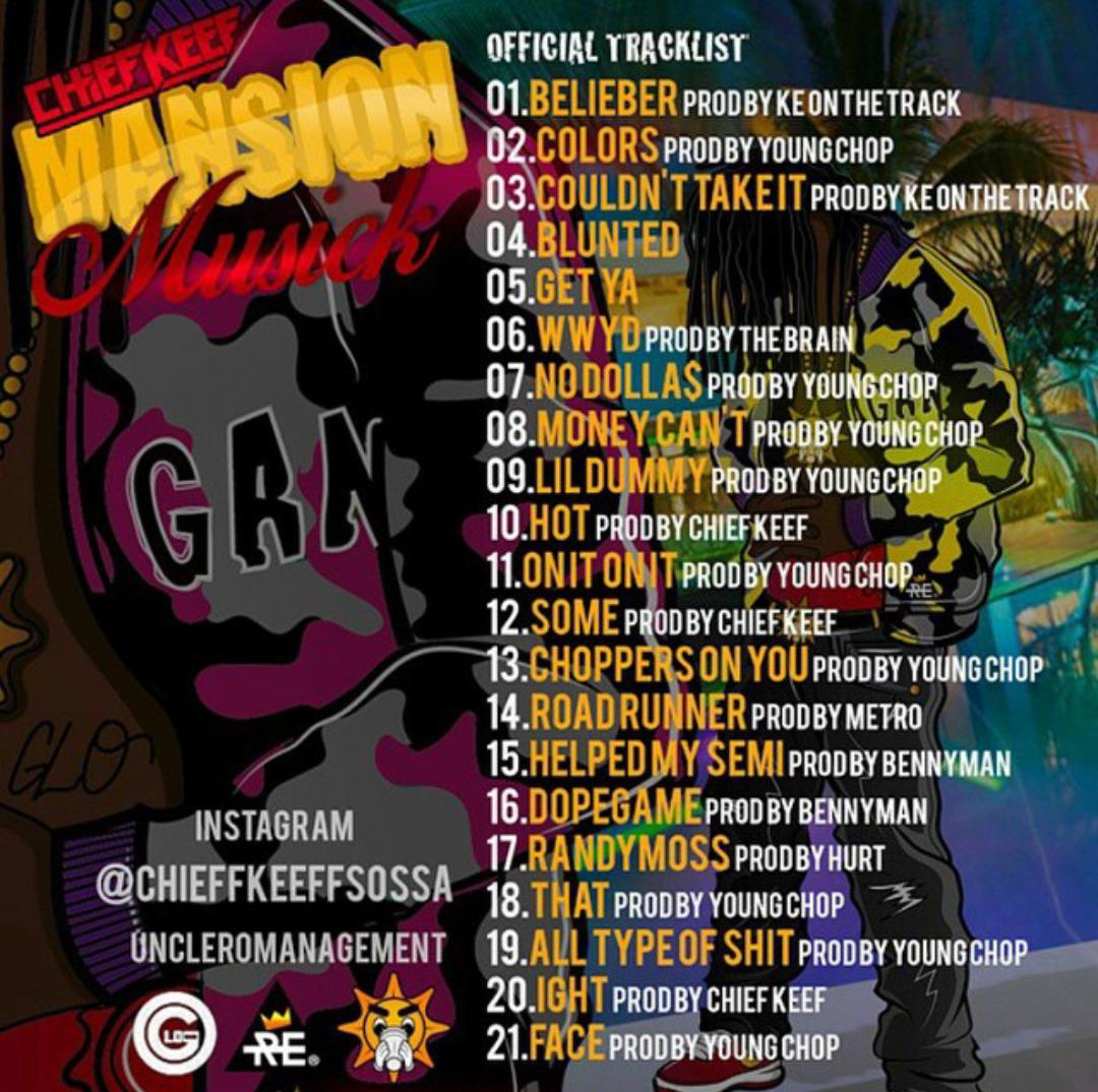 [Artwork & Tracklist] Chief Keef - Mansion Musick ...