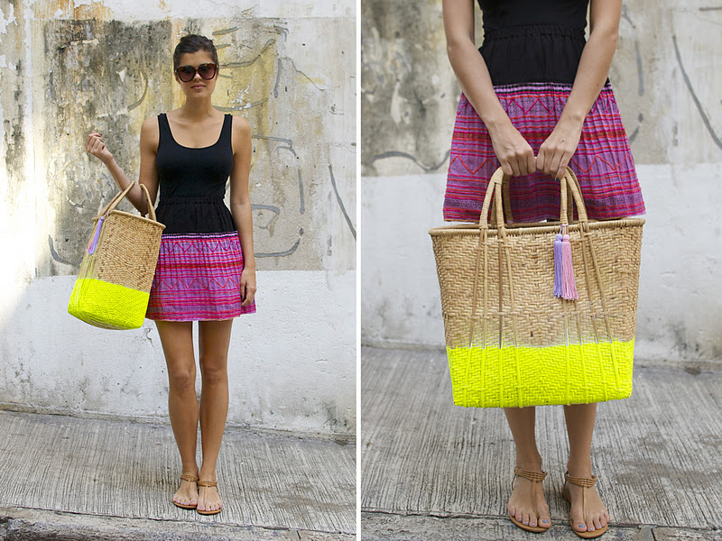 DIY Neon Market bag | A Pair & A Spare