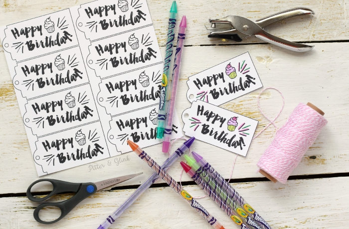 Pitterandglink free printable happy birthday gift tags free printable happy birthday gift tags you can color these www negle
