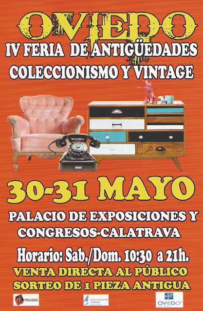 Feria de antigüedades en Oviedo