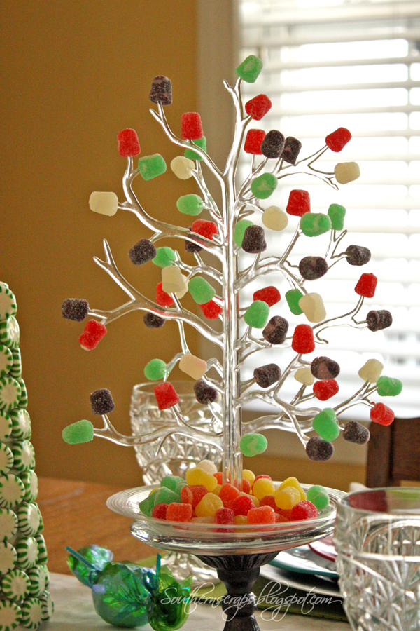 Spearmint trees and a candy tablescape