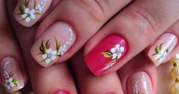 Uas Flores Great Decoracin Fcil De Flores Para Uas Easy Flower Nail