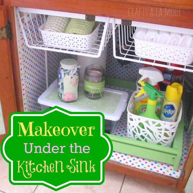 Day 14 under the sink 31 cheap easy diy organizers for Cheap kitchen organization ideas