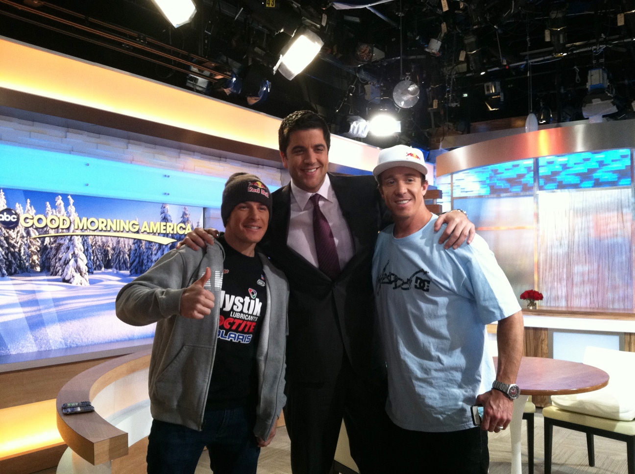 Good Morning America Tomorrow : Launchinlevi tune in robbie maddison and levi lavallee