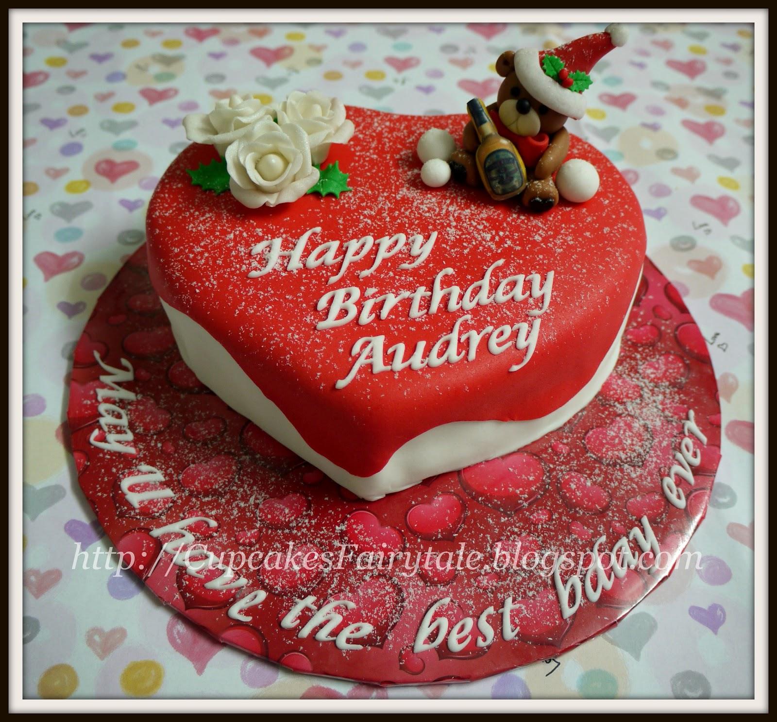 audreys christmas birthday cake