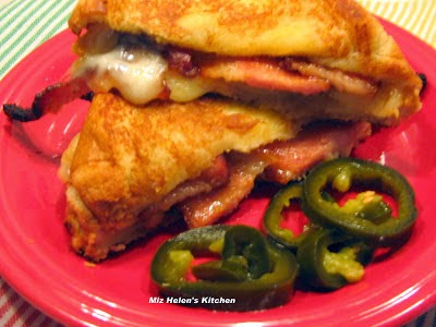 Candied Dijon Bacon Grilled Cheese at Miz Helen's Country Cottage