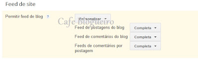 RSS feed no blog