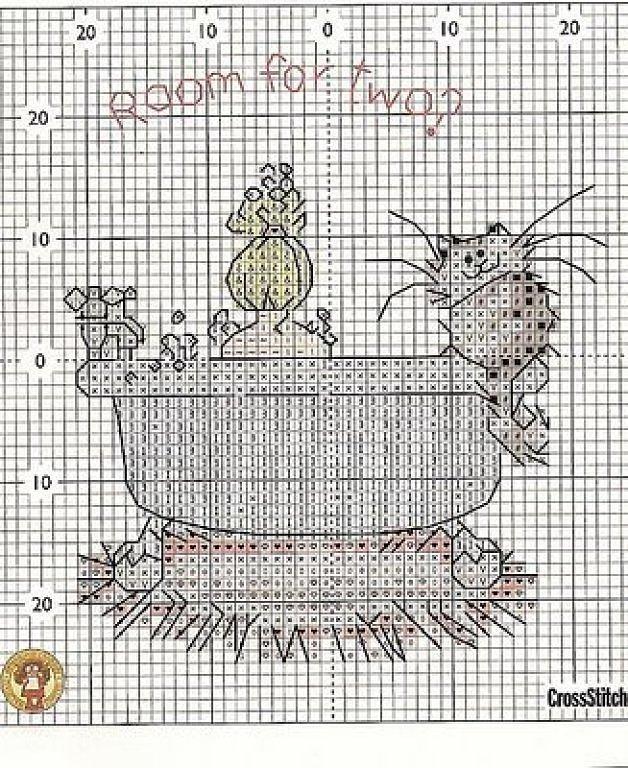 Схемы для вышивки крестом для ванной
