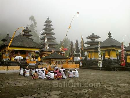 Pasar Agung Temple in Mount Agung, volcano in Bali