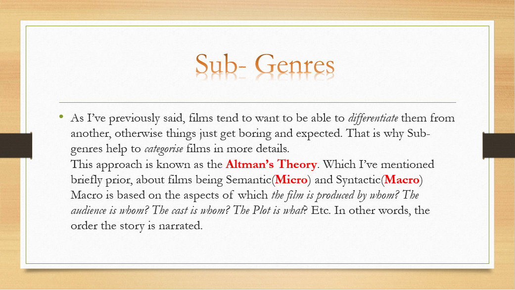 genre and subgenre a film Find top rated, most viewed, and editorial picked detective film movies on allmovie.