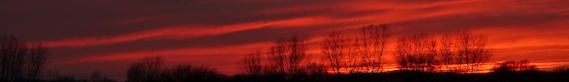 orange and red sunset