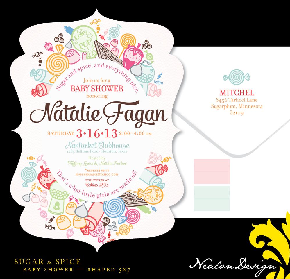 Nealon Design: SUGAR & SPICE Baby Shower
