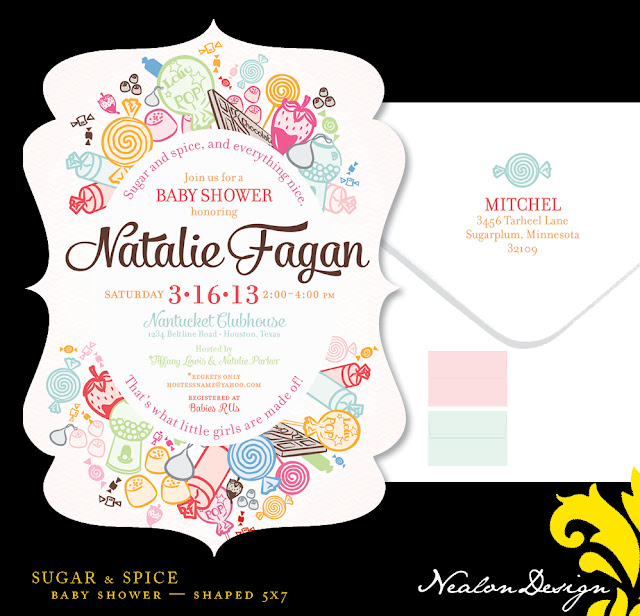 nealon design sugar spice baby shower