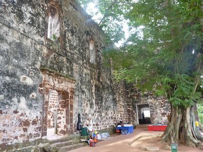 Exterior iglesia St Paul Malaca, Malasia