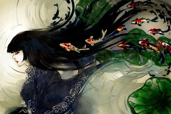 Wenqing Yan yuumei deviantart ilustrações digitais