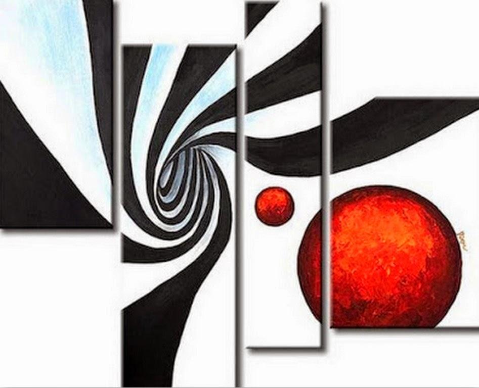 Cuadros modernos pinturas y dibujos cuadros tr pticos - Cuadros faciles de hacer ...