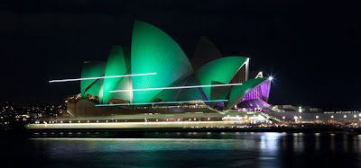 Sydney Opera House during Earth Hour 2013