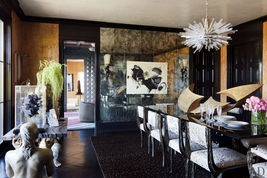 New home interior design kelly wearstler designs a bold bel air home for Kelly wearstler interior design