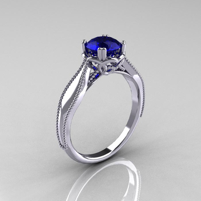classicengagementring nouveau 14k white gold