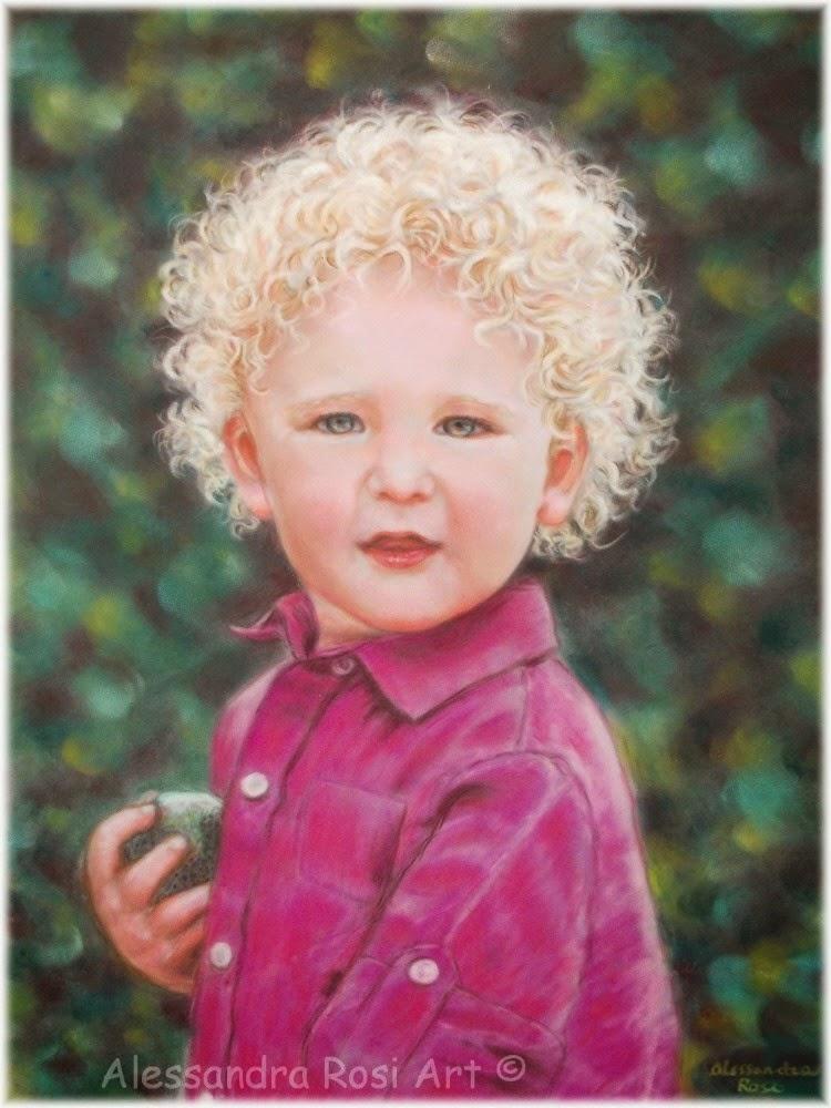child portrait painting, custom pastel portrait