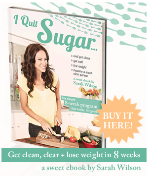 I'm an affiliate for Sarah Wilson's I Quit Sugar ebooks!