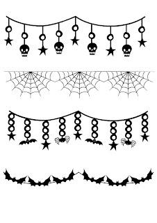 Bordes de halloween para imprimir