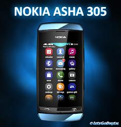 harga baru nokia asha 305 dan bekas, spesifikasi lengkap dan gambar hp asha 305, ponsel layar sentuh dual sim nokia terbaru