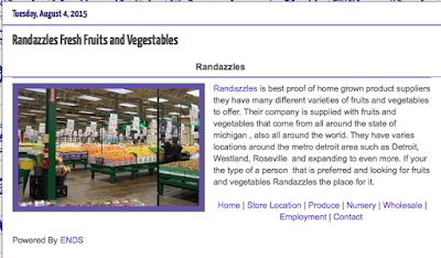 Check out article wrote on Randzzles Fresh Fruits and Vegetables