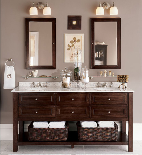 Simple Top Ten Modern Wood Bathroom Vanities Featured Here In A Striped Ebony But Also Available In Dark Walnut, The Essence Vanity Is Made By Manufacturer, Xylem Its Minimalist Design Can Easily Fit Into A Quaint Bathroom With Its