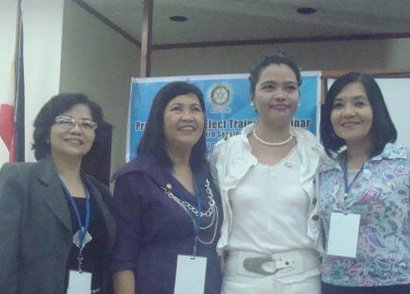 Rotary Presidents with Ambassador Zara Jane Juan