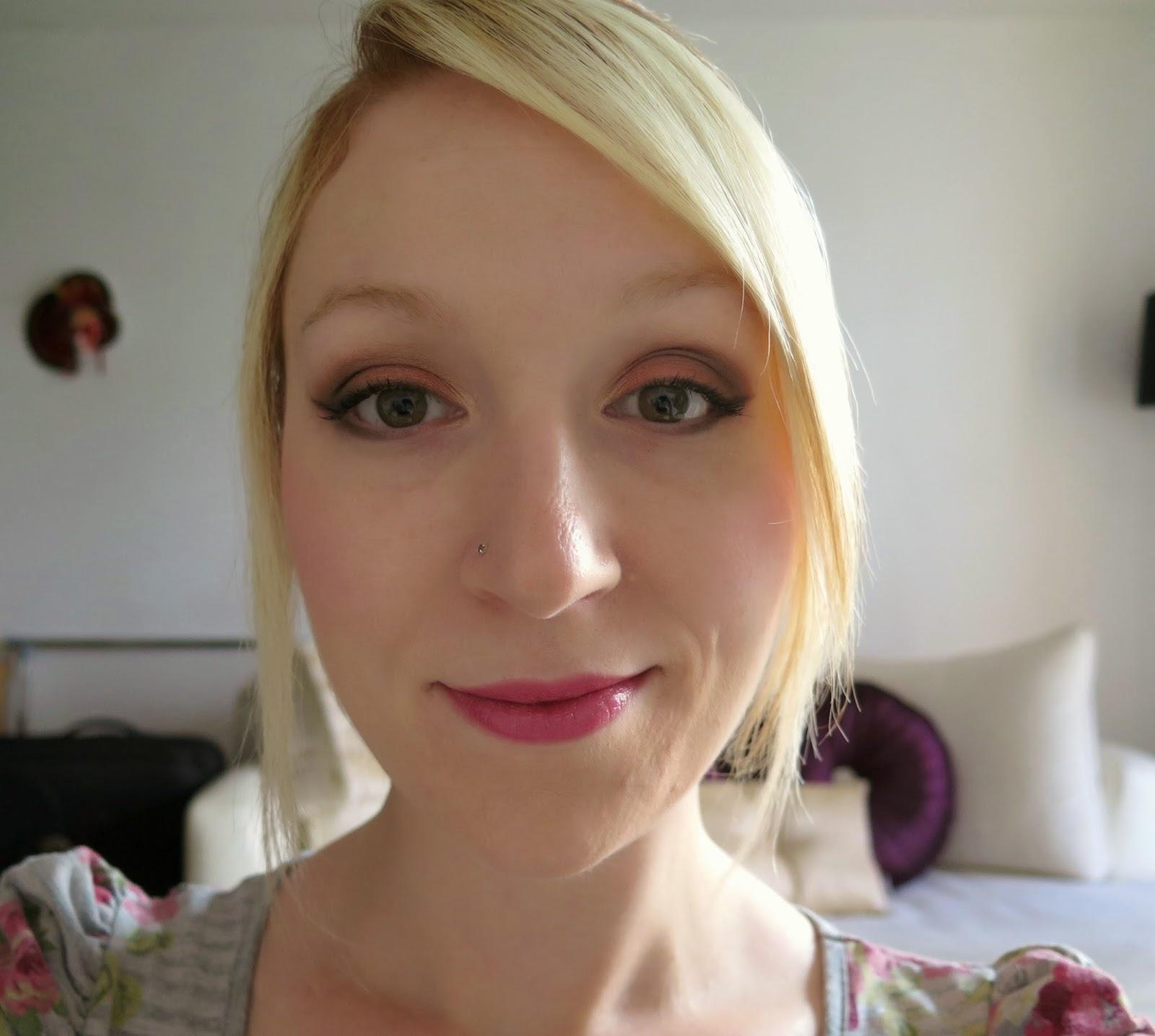 Bronze eye make-up, Michelle Louise Love