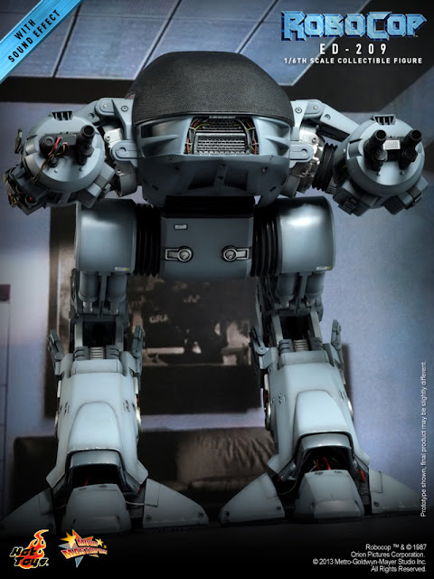 Hot Toys 1/6 Scale Robocop MMS Diecast ED-209 Figure