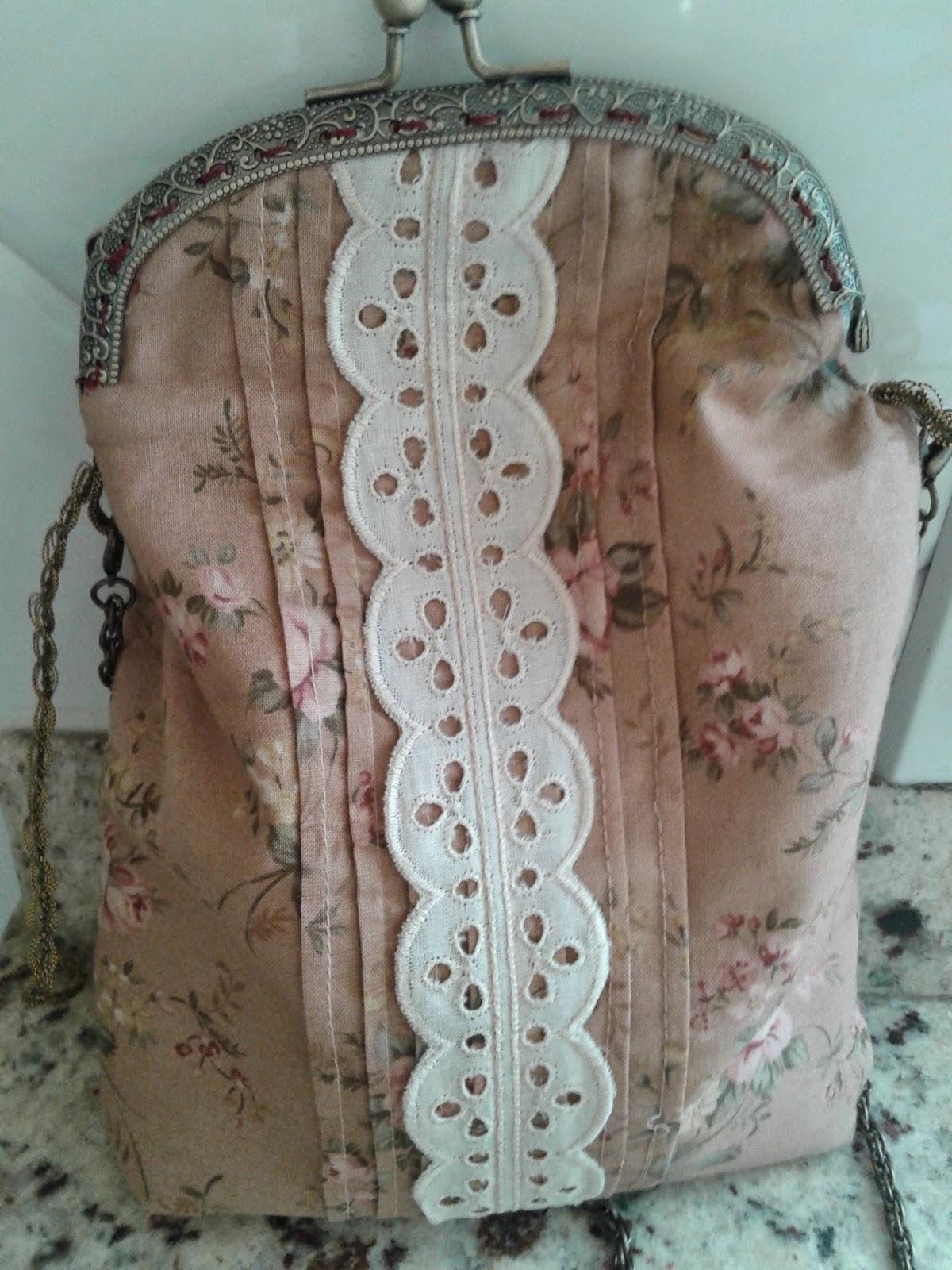 Bolso boquilla tela de algodón e hilo
