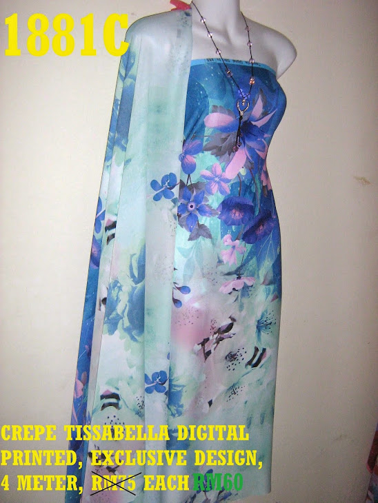 1881C: CREPE TISSABELLA DIGITAL PRINTED, EXCLUSIVE DESIGN, 4 METER