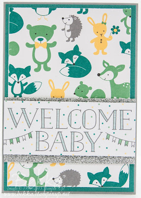 Hello Baby Card - Project Life Cards to the Rescue!