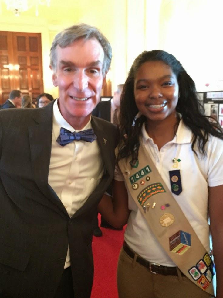 Girl scout & Bill Nye