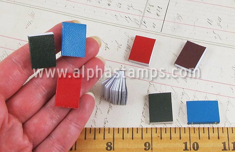 http://www.alphastamps.com/p16166/Set_of_Miniature_Books/product_info.html